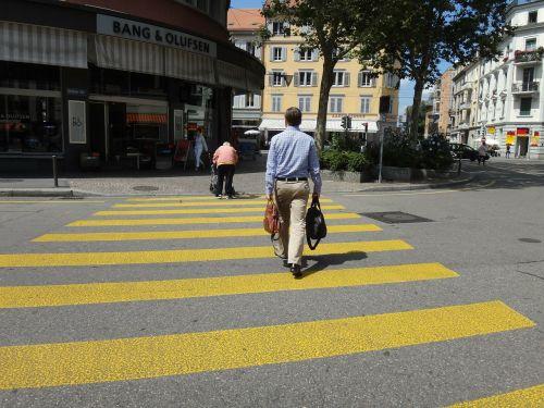 man person zebra crossing