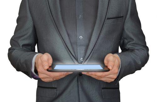 man businessman tablet computer
