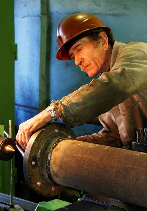 man work industry