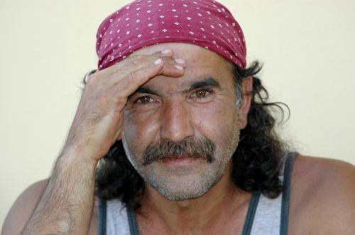 man portrait mustache