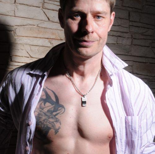 man portrait tattoo
