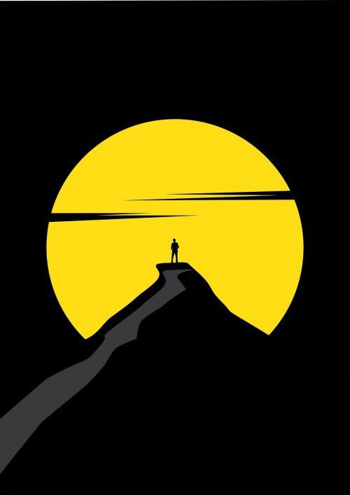 man mountain moon