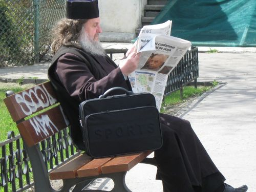 man old reading