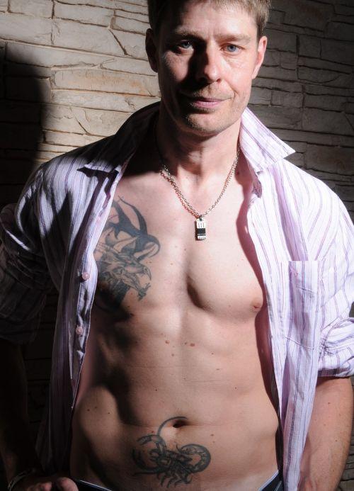 man tattoos tattooed