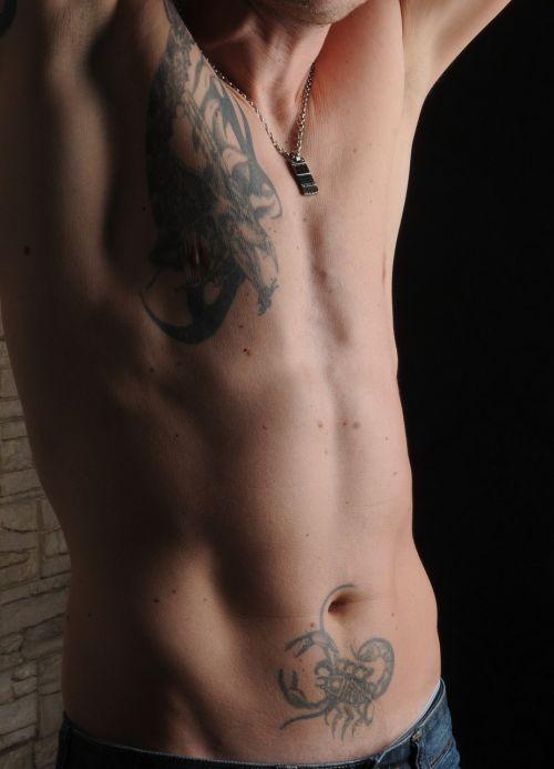 man body tattooed