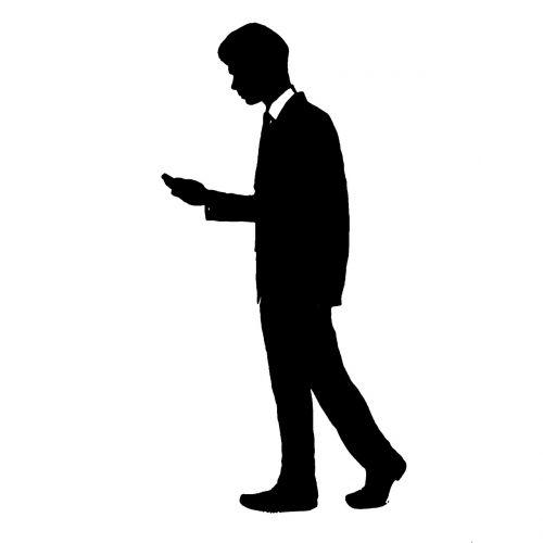 man walking suit