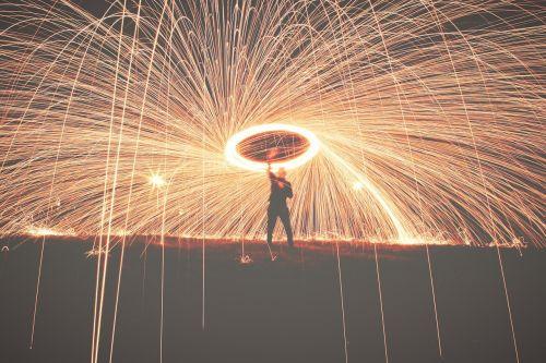 man perform flame