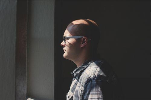 man guy eyeglasses