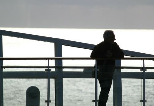 man silhouette mood