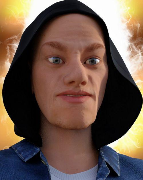 man portrait face