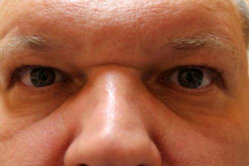 man eyes facial expression