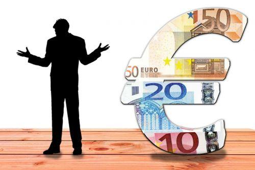 man bank note euro