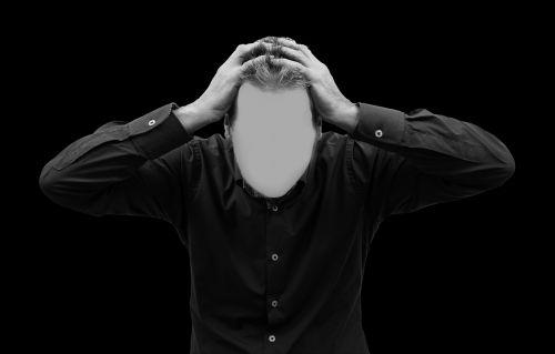 man face psychosis