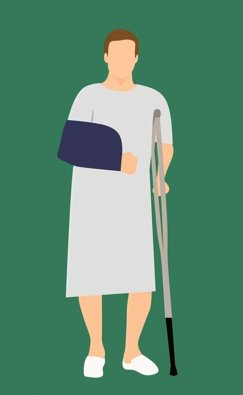 man patient standing