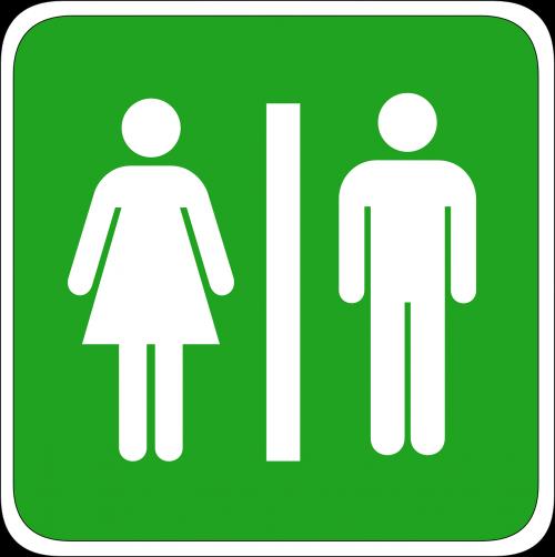 man woman toilet