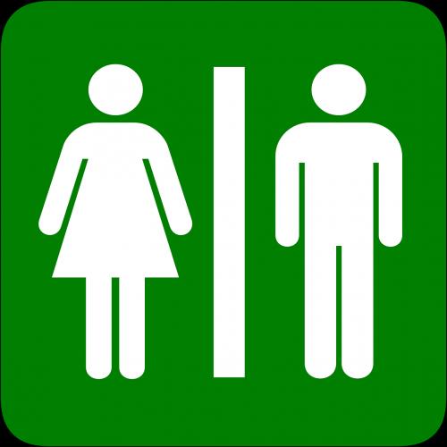 man woman restroom