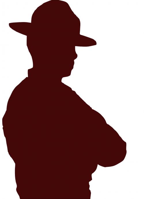 man cowboy hat