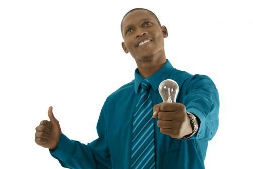 vyras,asmuo,viršuje,laimingas,lemputė,šviesa,Afrikos,idėja,lemputė,elektros lemputė,mąstymas