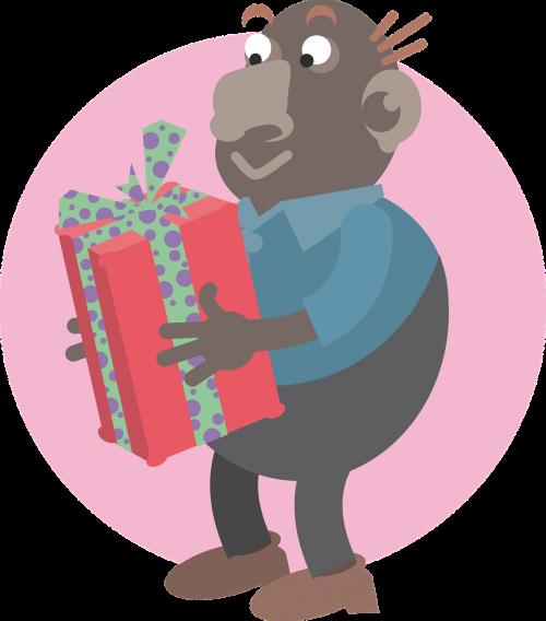 man parcel gift