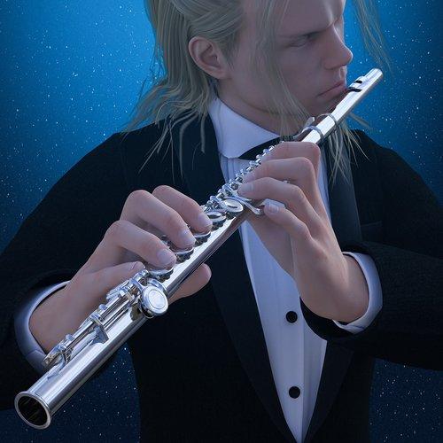 man  flute  musical instrument