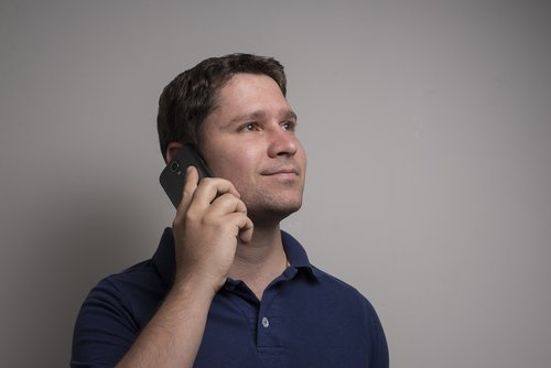 man  cellular  talking on the cell phone