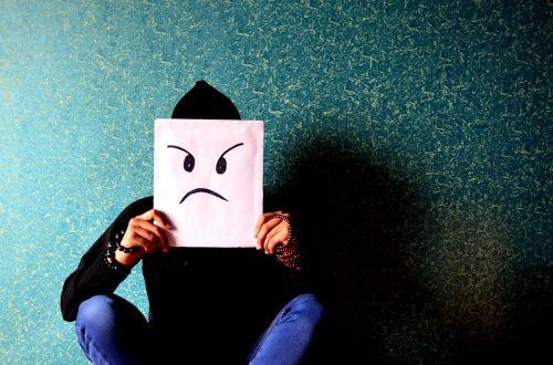 man angry irritated