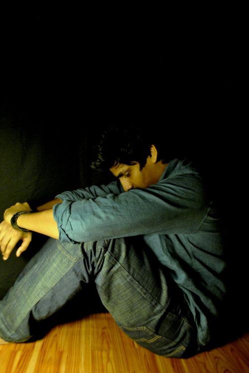 man depressed sad