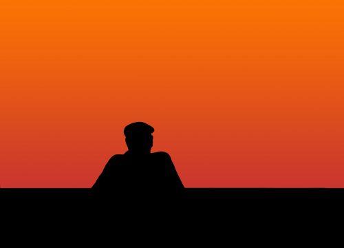 man silhouette move