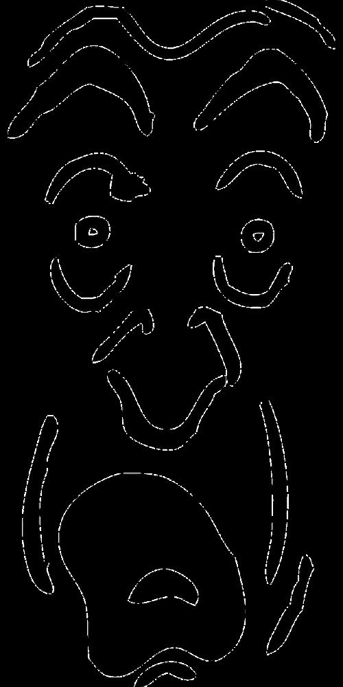 man face person