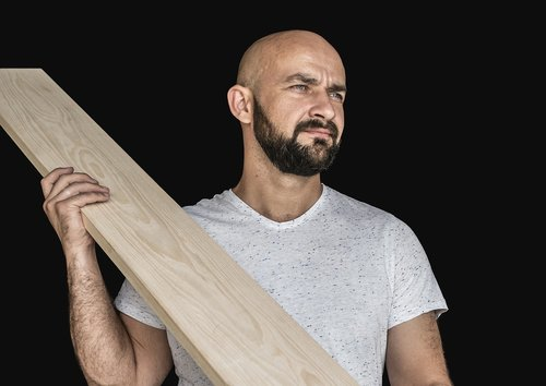 man  bald  worker