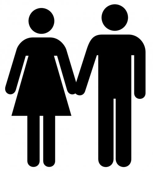 man woman silhouette