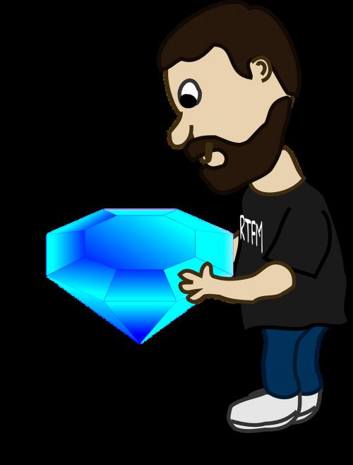 man diamond jewel