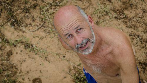 man beach river