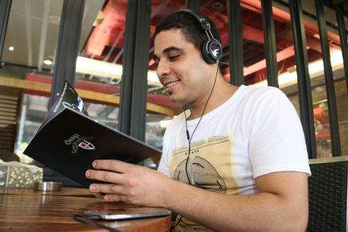 man foreign men headphones