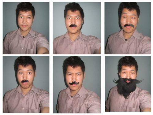 man mustache beard