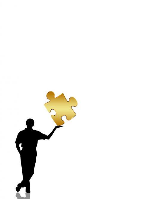 man silhouette presentation