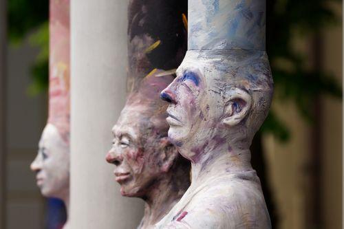 man woman sculpture