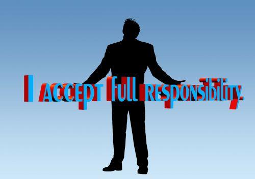 man silhouette responsibility
