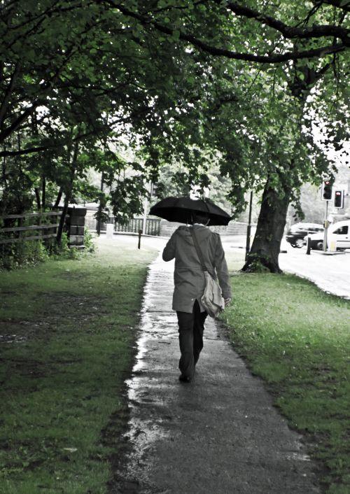 Man And Umbrella