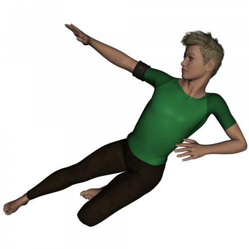 Man In A Green T-shirt