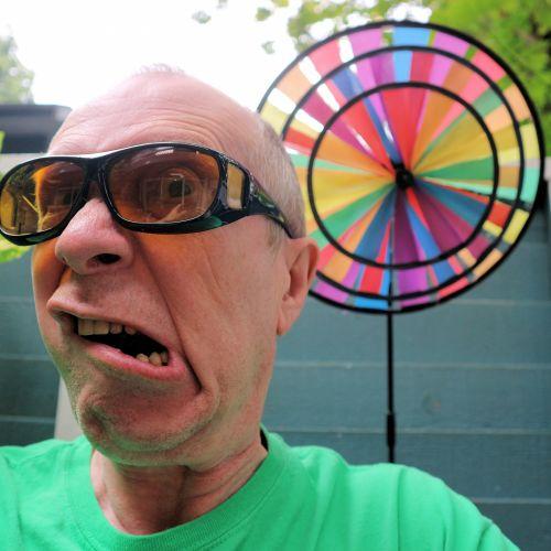 Man In Amber Glasses I