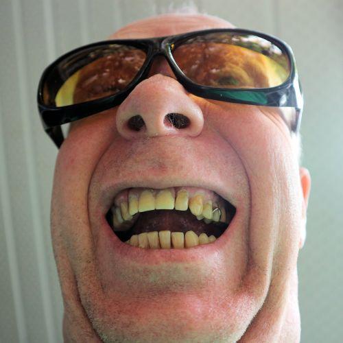 Man In Amber Glasses