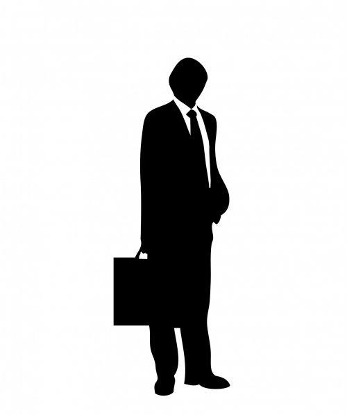 Man In Suit & Briefcase