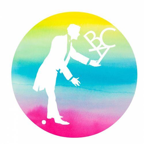 Man Juggling ABC Silhouette