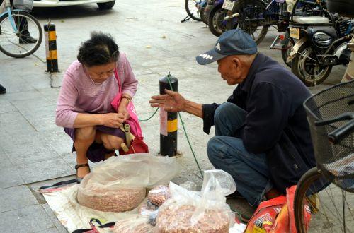 Man Selling Peanuts