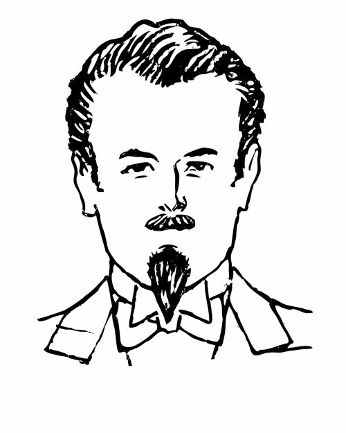 Man With Goatee Clipart