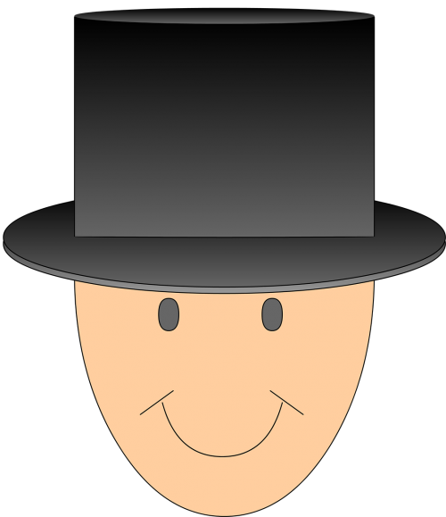 man with hat top hat hat