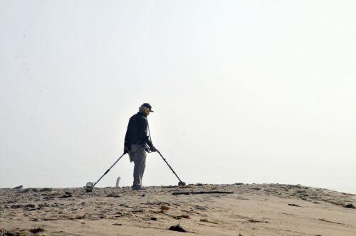 Man With Metal Detectors