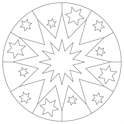 mandala star christmas