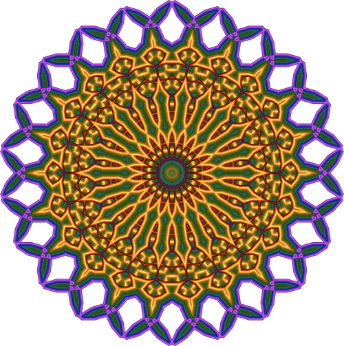 mandala blue rosacea
